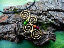 Halskette Aotearoa aus Messing Gypsy Kette Erdtöne