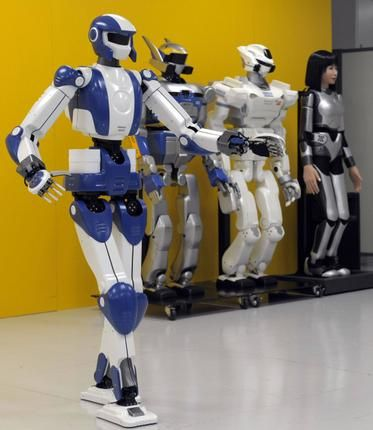 real robots | READY FOR THE JOB The HRP-4, a humanoid robot, developed in Japan to ...