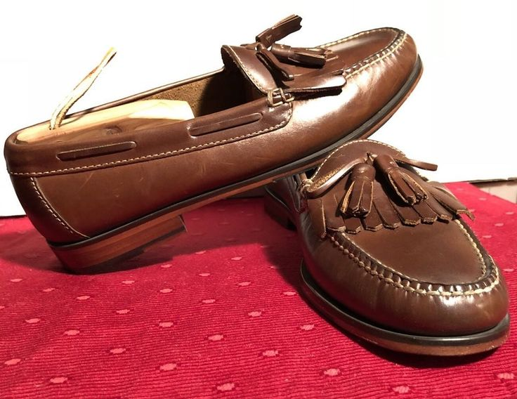 COLE HAAN Men Pinch Shawl Kilted Tassel Loafer Slip On Moccasin 10D Brown  C04741