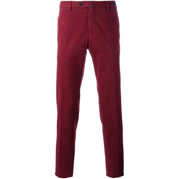 Pt01 slim fit chinos (2.514.395 IDR) ❤ liked on Polyvore featuring men's fashion, men's clothing, men's pants, men's casual pants, red, mens red chino pants, mens red pants, mens slim fit pants, mens chinos pants and mens slim pants