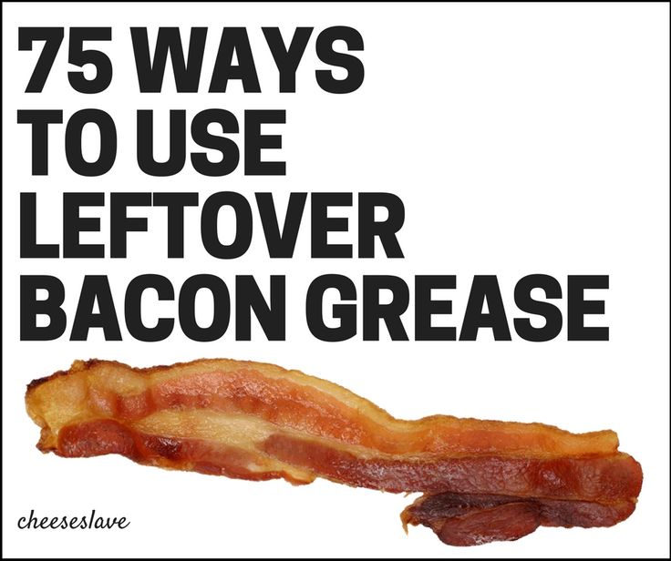 Looking for ways to use leftover bacon grease? We cook a lot of bacon in our house and I'm always looking for ways to use leftover bacon grease. So I asked you guys, which resulted in this epic Facebook thread. (I love my readers -- this is the best group of people!)