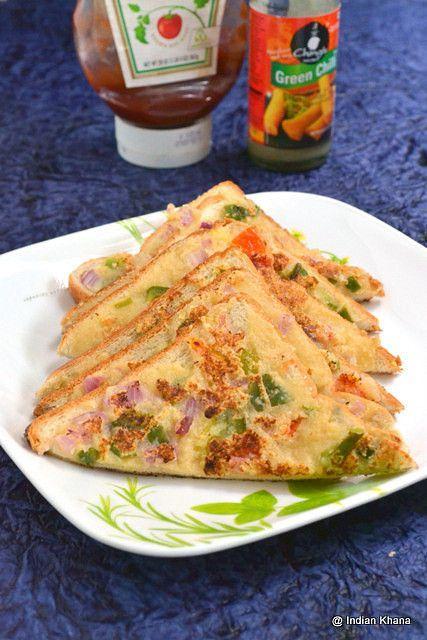 Bread Recipes, Breakfast, Curd, Easy Kids Recipe, kids friendly recipes, Kids friendly tiffin, Kids Menu, Lunch box recipes, Open Rava Sandwich, Rava Recipe, Rava Sandwich, Sandwich, Toast Recipes, Easy breakfast recipes, indian breakfast recipe, nasta recipes