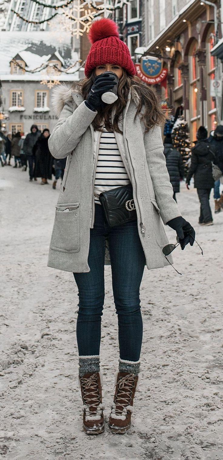 Tolle 48 elegante Winter-Outfits, die Sie jetzt tragen können. Mehr zu trendfashioner.co – outfits