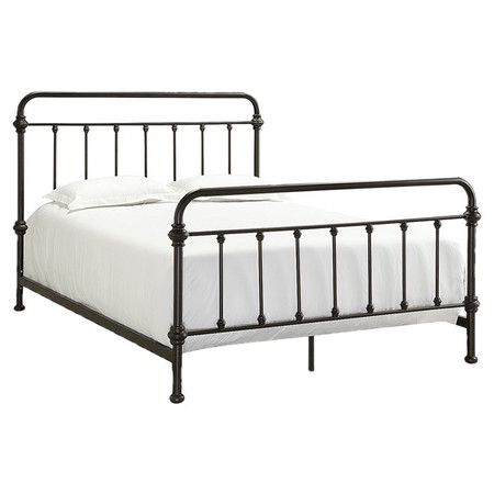 Weston Home Nottingham Metal Spindle Bed   The Nottingham Metal Spindle Bed    Antique Dark Bronze has a rustic  retro vibe  Both the headboard and  footboard. Best 25  Full metal bed frame ideas on Pinterest   Garden benches