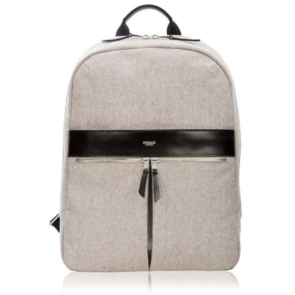 Knomo Beauchamp Laptop Backpack in Grey Linen on Teqtique