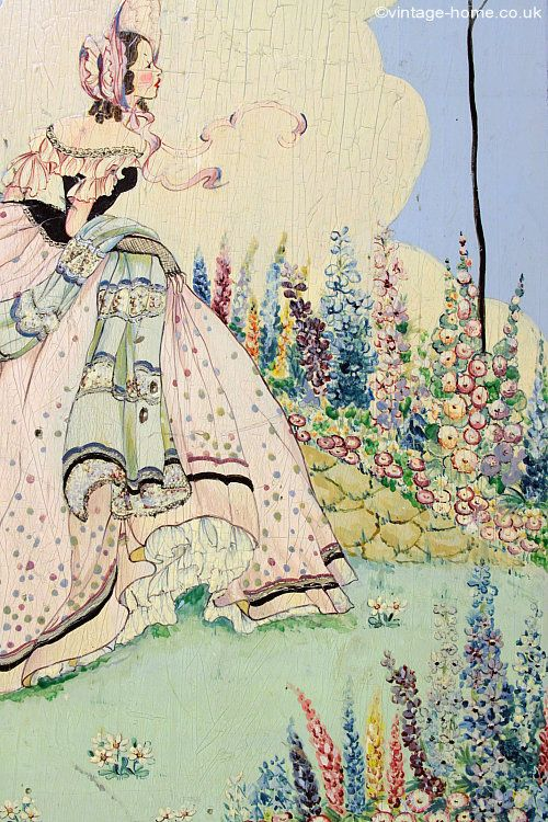 Embroidery Color Reference for Southern Belle Patterns ~ Vintage Home - 1920s Hand Painted Fire Screen: www.vintage-home.co.uk