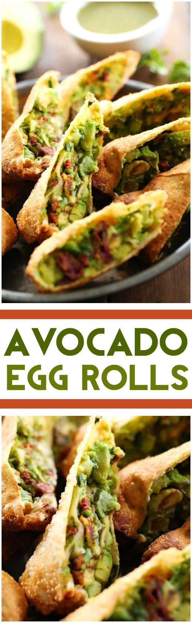 Avocado Egg Rolls    These are absolutely DIVINE  So much delicious flavor packed into one incredible appetizer  This will be one recipe you will want to make over and over again