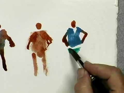 Watercolor - Tips for painting figures in landscapes