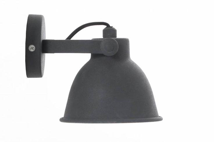 Urban Interiors wandlamp industrieel vintage grijs - 12 cm