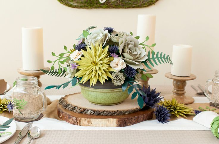 What Flowers Do I Need For My Wedding: Paper Flower Centerpiece Using Cricut Flower Shoppe