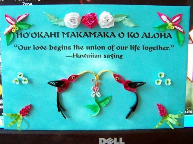 Quill Design Idea Use A Favorite Quote Our Love Begins The Union Of Hawaiian Phraseshawaiian Sayingsaloha Hawaiiwedding