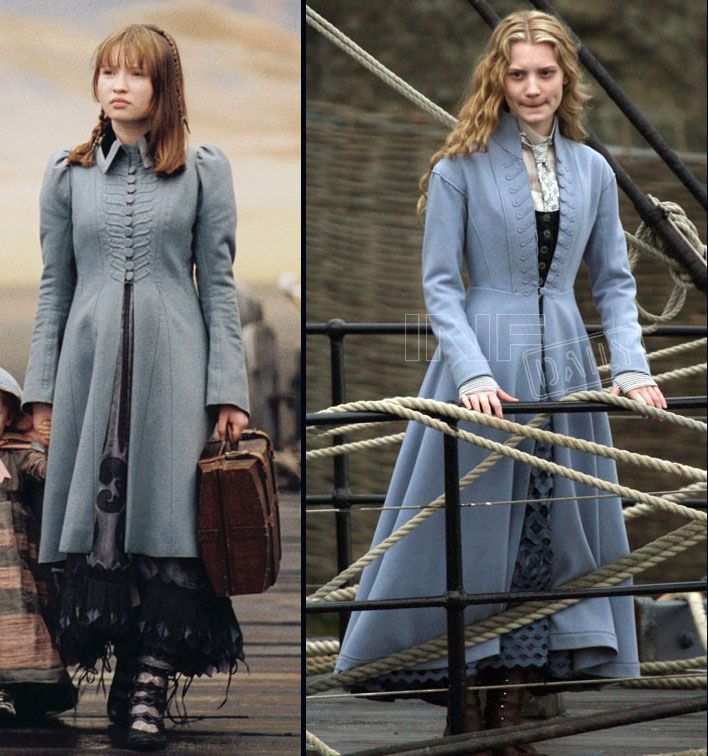 I love coats like this - left side is from Lemony Snicket's A Series of Unfortunate Events and the right is Alice from Tim Burton's Alice in Wonderland - both were designed by Colleen Atwood