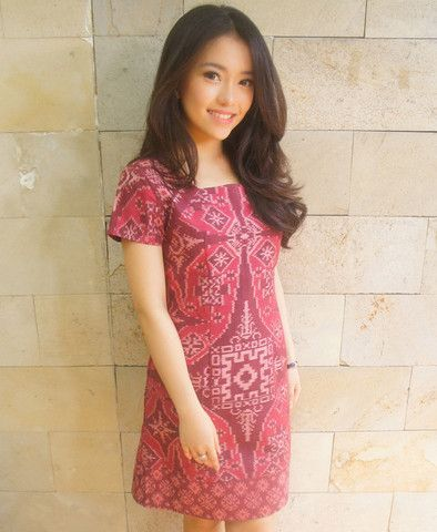 Signature Cut Dress Rosette Pink | batik kultur