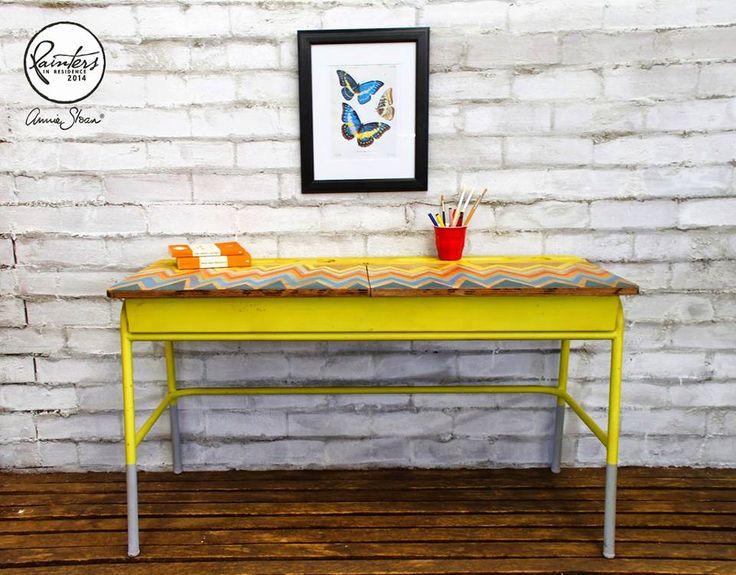 Die besten 25 kreide tafel schreibtisch ideen auf for Schreibtisch yellow