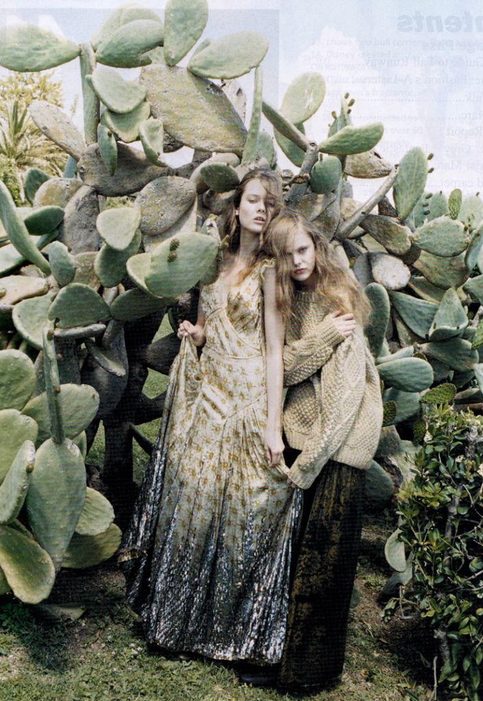 Juergen Teller for Marc Jacobs. Because who doesn't love to snuggle with a cactus?
