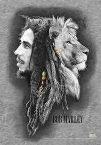 Bob Marley Profiles Textile Poster