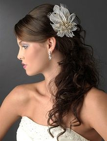 565 best wedding hair and makeup images on pinterest hairstyles Wedding Hair Pieces With Feathers feather hair piece wedding hair pieces with feathers