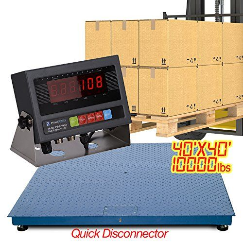 New 10000 Lb X 1 Lb 4 X 4 Floor Scale / Pallet Scale with Indicator - http://www.newofficestore.com/new-10000-lb-x-1-lb-4-x-4-floor-scale-pallet-scale-with-indicator/