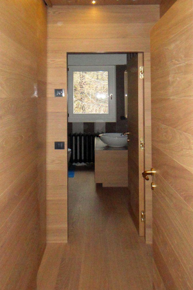 Appartamento a Foppolo - progetto di interior design - ingresso del bagno