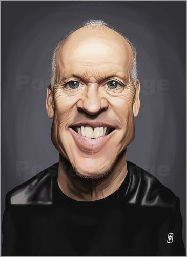 Rob Snow | caricatures - Michael Keaton art | decor | wall art | inspiration | caricatures | home decor | idea