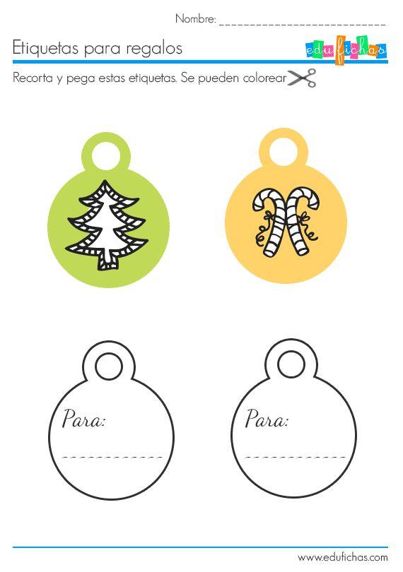 etiquetas navidad recortables