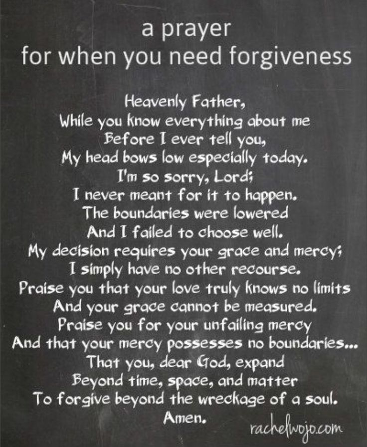 A Prayer for when you need forgiveness