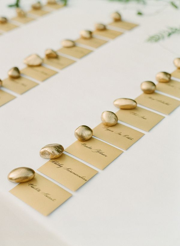 escort card ideas - photo by Greg Finck http://ruffledblog.com/must-see-sophisticated-chateau-wedding-in-cannes