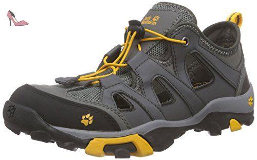 Jack Wolfskin  KIDS MTN ATTACK AIR, Chaussures de trekking et randonnée mixte enfant - Gris - Grau (tarmac grey 6011), 39 - Chaussures jack wolfskin (*Partner-Link)