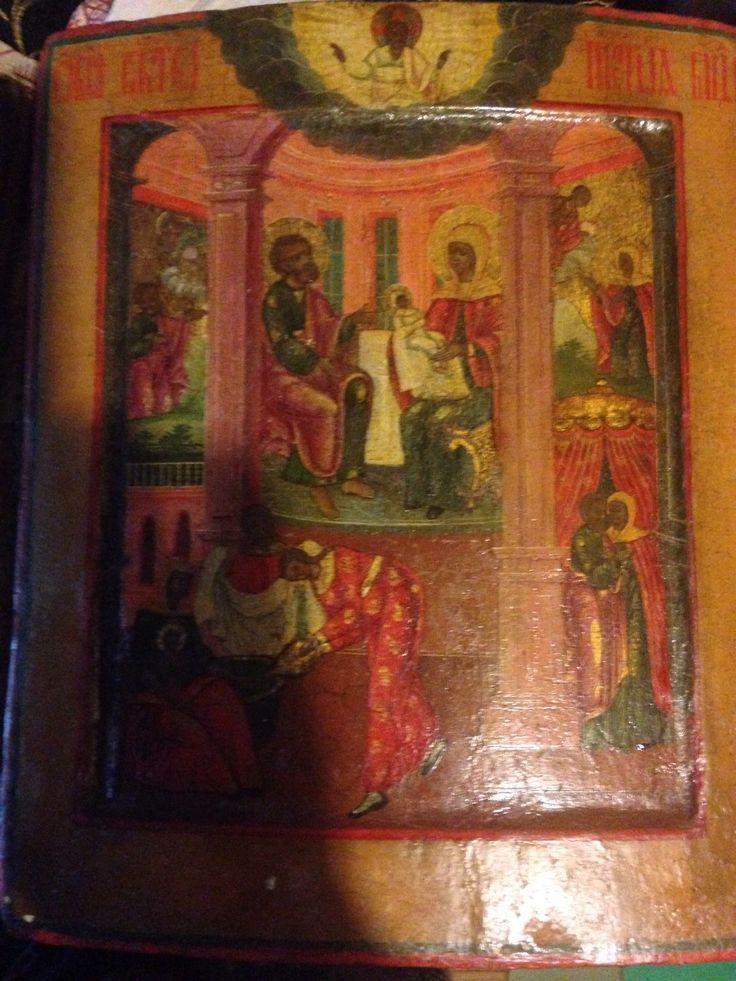 Купить Икона Рождества Богородицы - богородица, рождество, бесплодие, христианство, Икона рукописная, рождество богородицы