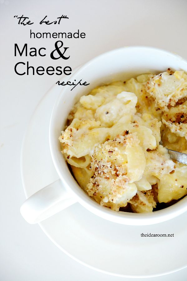 Homemade Mac and Cheese Recipe - The Idea Room