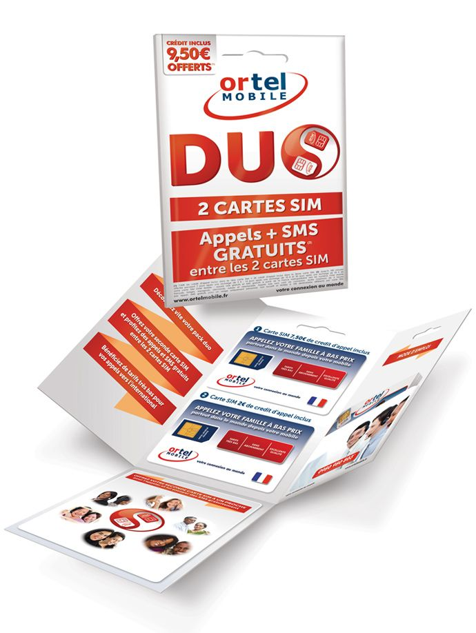 DUO SIM pack designed 4 Ortel Mobile France