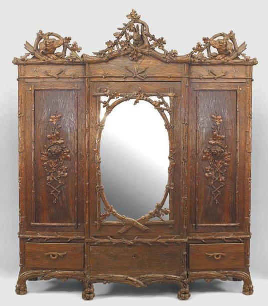 Amazing Rustic Black Forest (19th Cent) Walnut 3 Section Armoire Cabinet. Victorian  FurnitureItalian FurnitureRustic FurnitureAntique ...