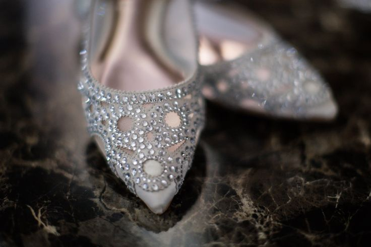 Silver Embellished Bridal Flats - A Blue   Gold Rancho El Toro Courtyard Wedding - Oana Foto