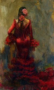 Flamenco Dancer Painting - Spanish Culture 22 by Corporate Art Task Force