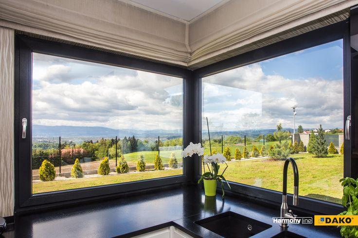 Widok z kuchennego okna - najlepsza inspiracja do kulinarnych szaleństw.