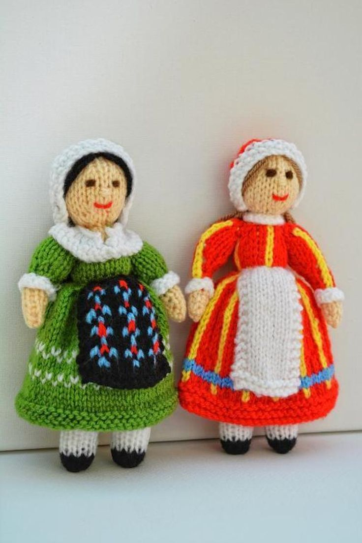 French & Danish Folk Doll Knitting Pattern | Craftsy