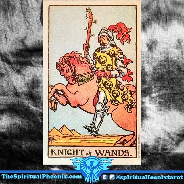 Knight of Wands:⠀ ⠀ Wands: The element of Fire; Instinct, travel and communication⠀ ⠀ Wands/Fire: I desire - The Soul⠀ ⠀ Knights: Fire⠀ ⠀ Fire: I desire - The Soul⠀ ⠀ Key Meaning: A proposal⠀ ⠀ As an influence:⠀ ⠀ Events speed up. Any blocks to progress will be lifted, so this is a welcome card if you have been waiting for decisions or have generally been feelings stuck. You can now have the conversations and action you need to move your projects on; follow your intuition and push forward…