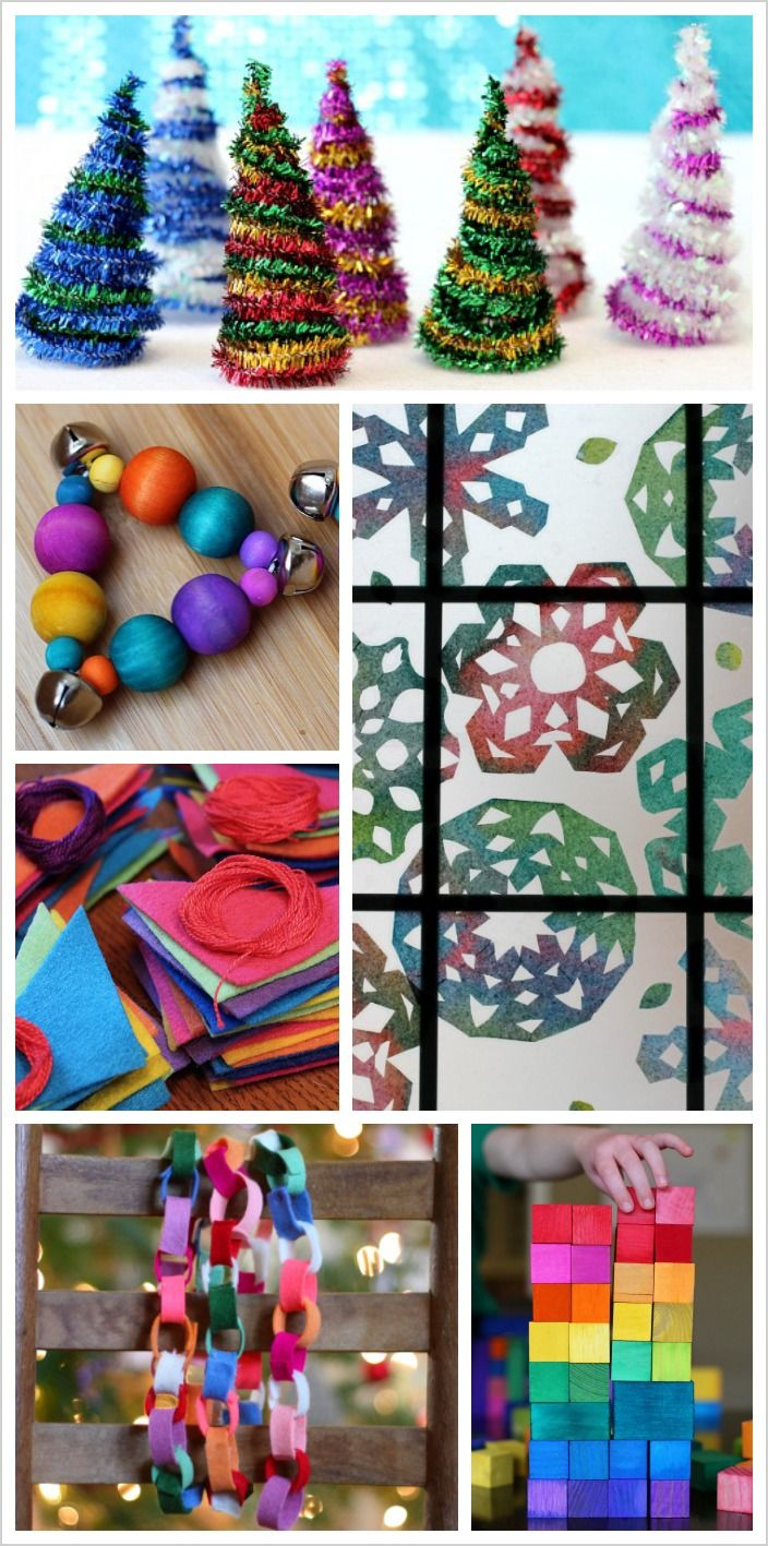A beautiful collection of colorful crafts and activities to do with and for your kids this Christmas!