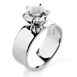 Thick Band diamond ring