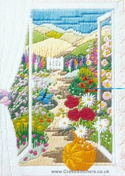Summer Through The Window Long Stitch Kit by Anchor