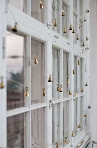I think I just found my Fave....; sweet tiny brass bells as window garland, can just imagine how lovely they sound when the wind blows!..... love it!