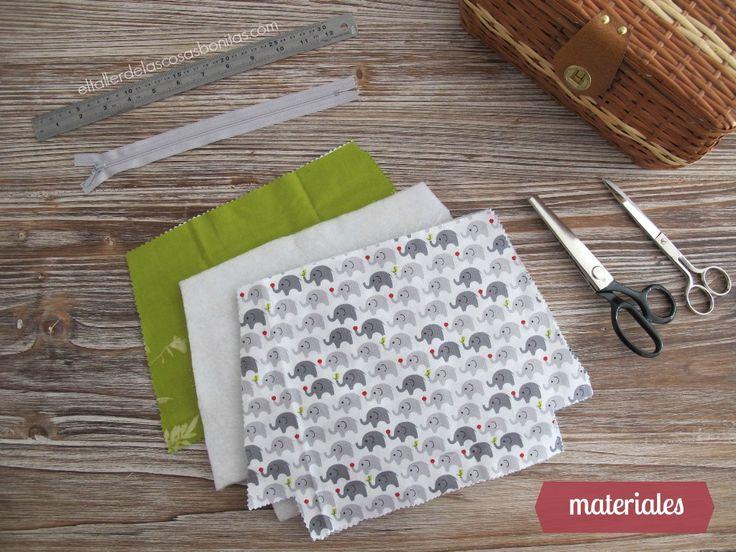DIY Tutorial cómo hacer un neceser con cremallera