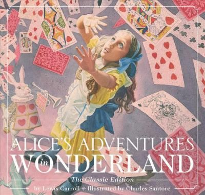 Alice's Adventures in Wonderland illustrated by Charles Santore with glorious dreamy images. So pretty.