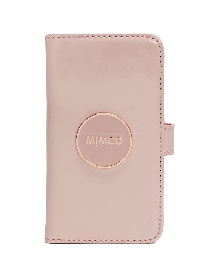 mimco rocks. dusty pink flip case for iphone 6.