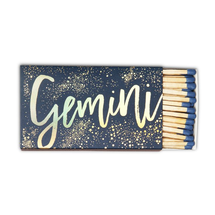 Gemini Zodiac Matchbox