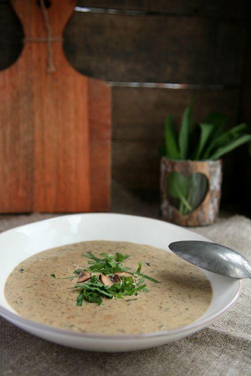 Baerlauch-Pilzsuppe