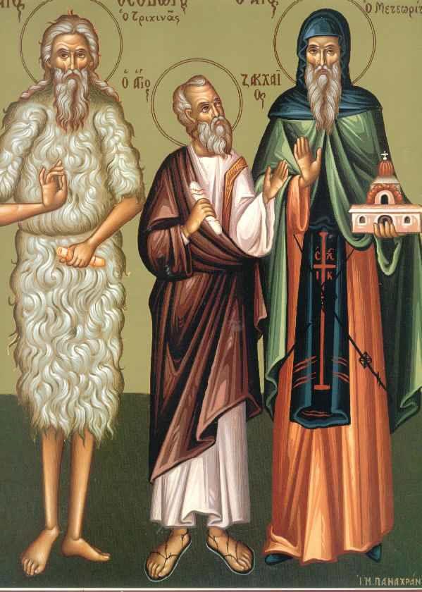 Σήμερα η Εκκλησία τιμά τη μνήμη του πρώην αρχιτελώνου της Ιεριχούς, του Αποστόλου Ζακχαίου, ο οποίος μετά τη δημόσια μεταμέλειά του εντάχθηκε στον κύκλο των εβδομήκοντα μαθητών. Επίσης, εορτάζουμε τη μνήμη του Ιερομάρτυρος Αναστασίου, επισκόπου Αντιοχείας, των Μαρτύρων Ακινδύνου, Αντωνίνου, Βίκτωρος, Καισαρίου και των συν αυτών. Ακόμη, εορτάζουμε τη μνήμη των Οσίων Αθανασίου κτίτορος της Μονής των Μετεώρων (†1383), και Ιωάσαφ, καθώς και Οσίου Θεοδώρου του «Τριχινά».!!!✨✨✨