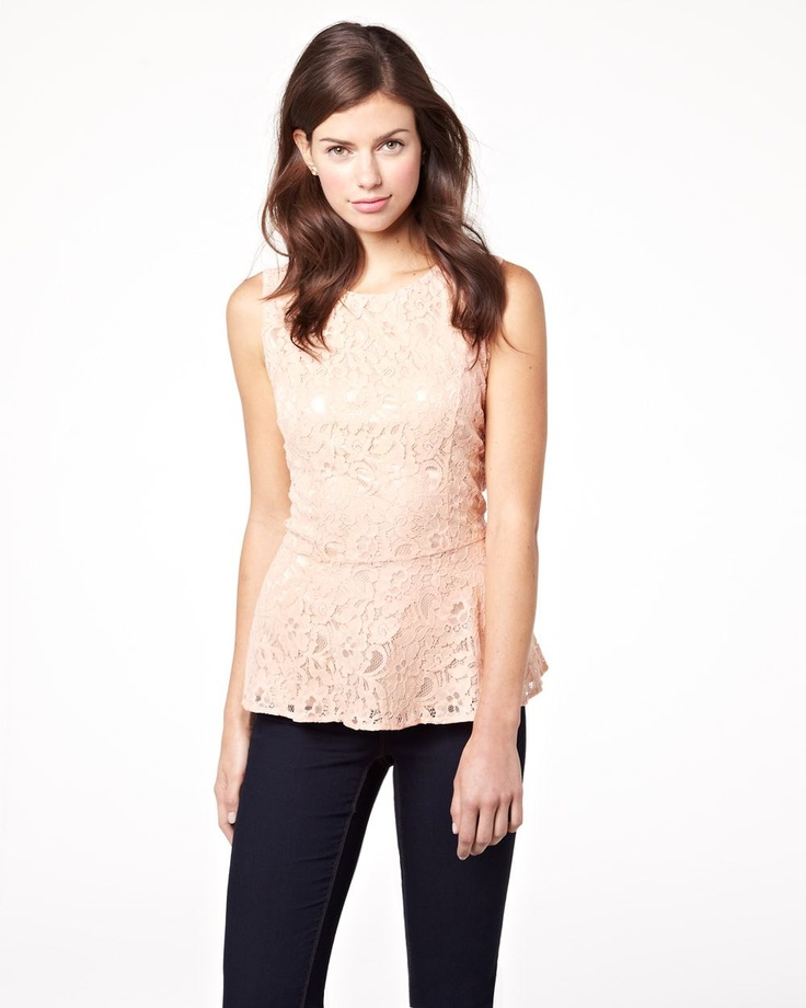 Spring 2013 Collection Lace peplum blouse