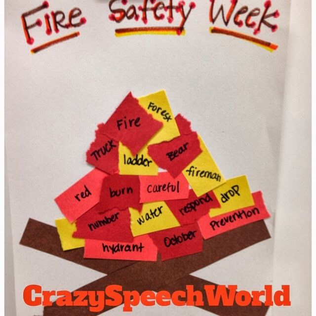 14 best images about Speech Therapy- Fire Safety on Pinterest ...