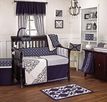 Colorful Baby Boy Nursery Interior Design - My boy colors, navy, white